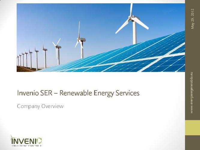 Invenio SER Company Presentation