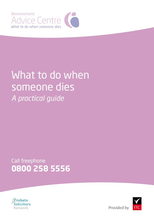 Bereavement Advice Practical Guide