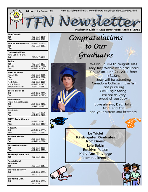 TFN Newsletter - July 8, 2010