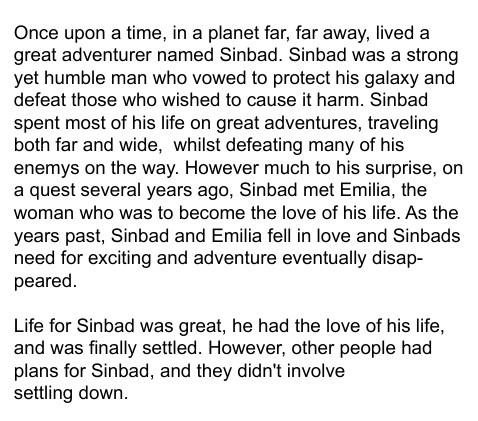 Sinbads greatest adventure yet...