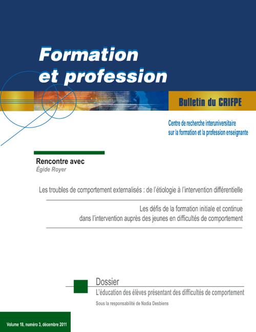 Bulletin du CRIFPE