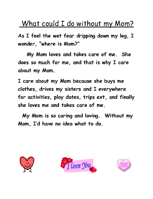 What Would I Do Without My Mom? By Grace