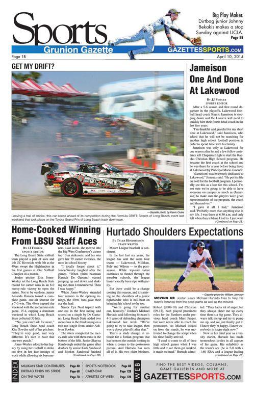 Gazette Sports   April 10, 2014