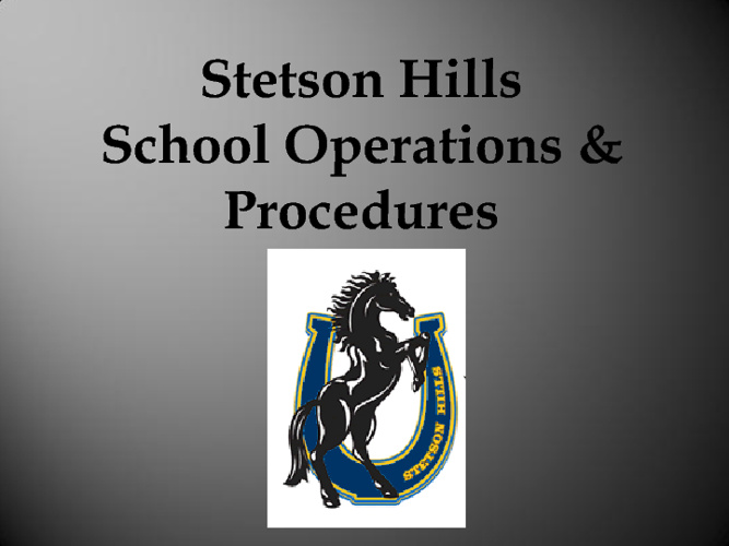 SH Operations & Procedures 2011-2012