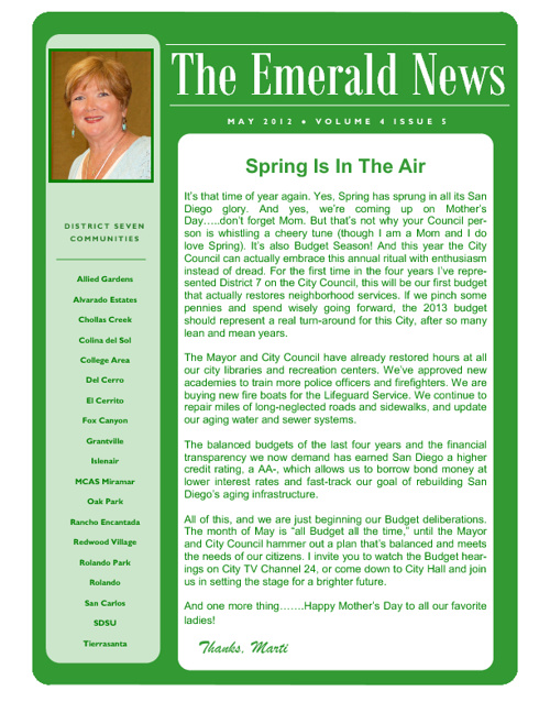 The Emerald News: Volume 4, Issue 5 (May 2012)