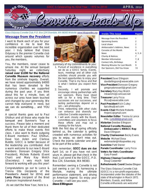 GOCC April 2014 Newsletter