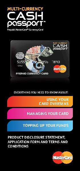 Multi - Currency Cash Passport PDS
