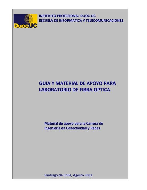 MATERIAL DE APOYO DE FIBRA OPTICA