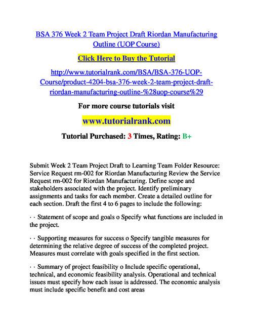 BSA 376 Course Success Begins / tutorialrank.com