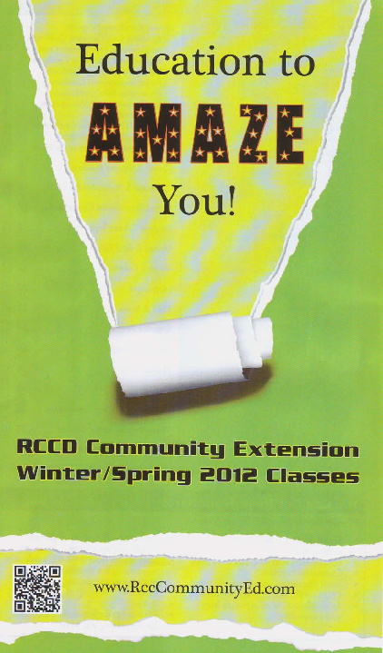 2012 RCCD Community Extension Schedule