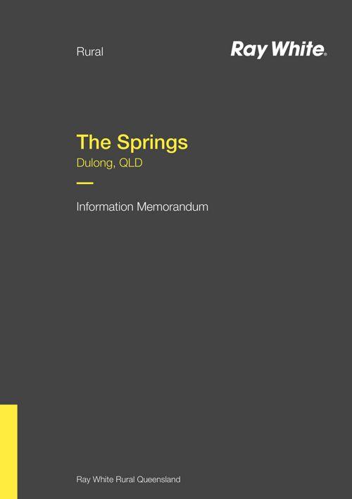 The Springs - Information Memorandum