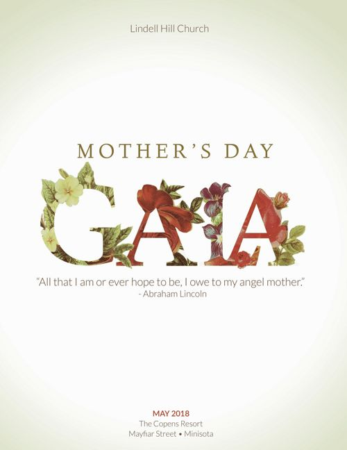 Mothers Gala Program Template
