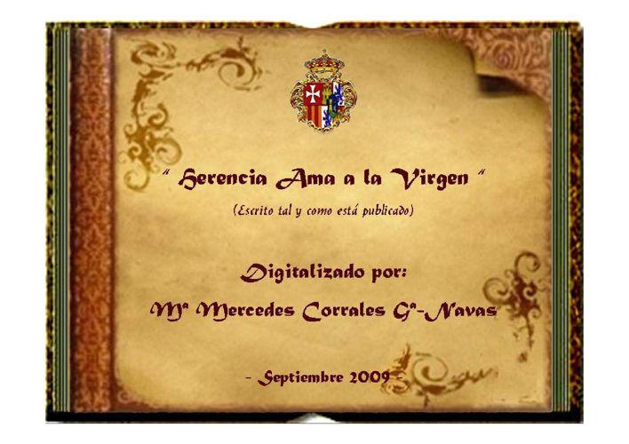 HERENCIA AMA A LA VIRGEN