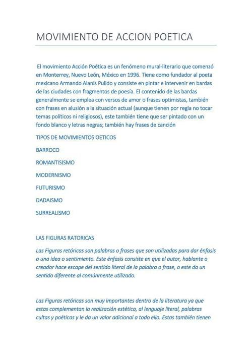 MOVIMIENTO DE ACCION POETICA