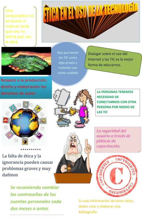 Cartel Ética en el uso de la Tecnología