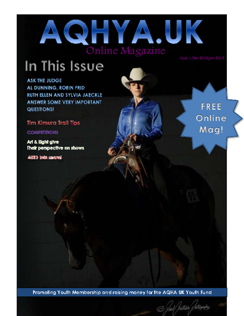 AQHYA Youth Magazine - Issue 1 DEC 2012/January 2013