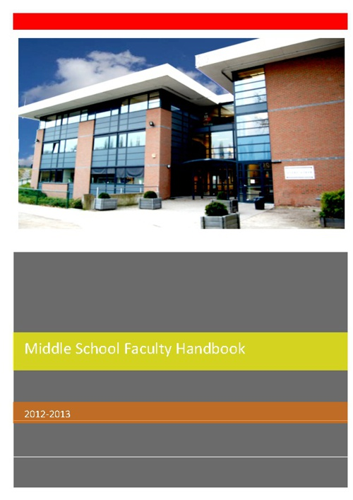 MS Faculty Handbook 2012-2013