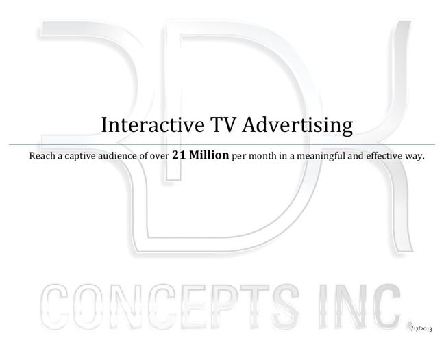 Interactive TV Advertising