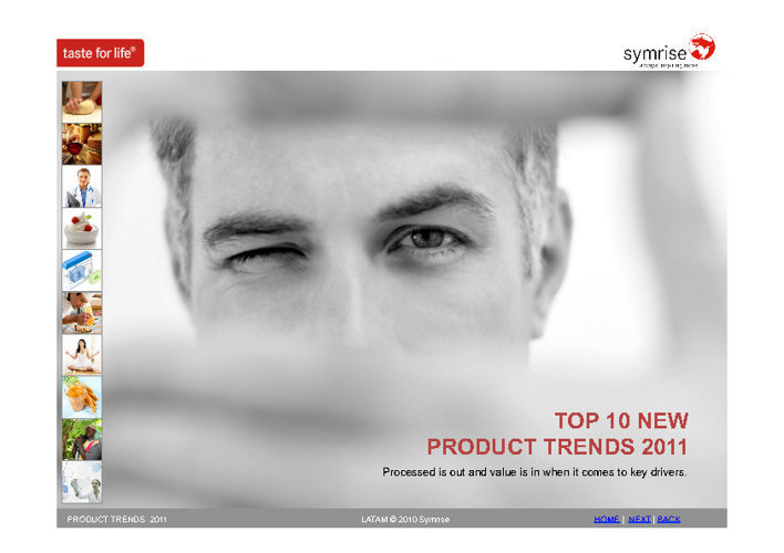 TOP TEN PRODUCT TRENDS