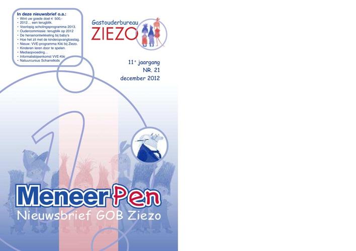 Nieuwsbrief Ziezo December 2012