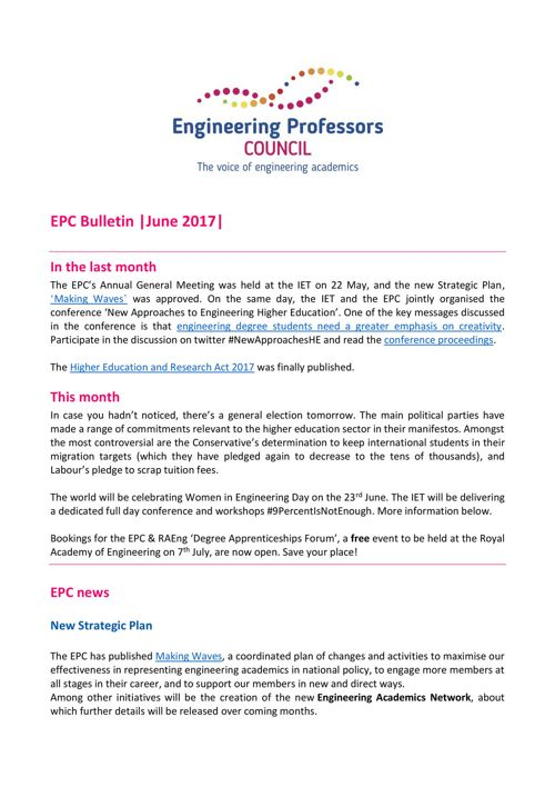 Engineering Professors' Council Bulletin June 2017