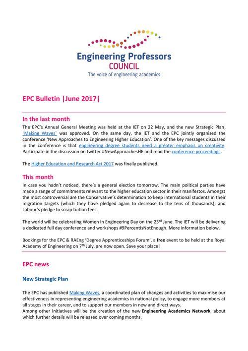 Engineering Professors' Council Bulletin June 2017