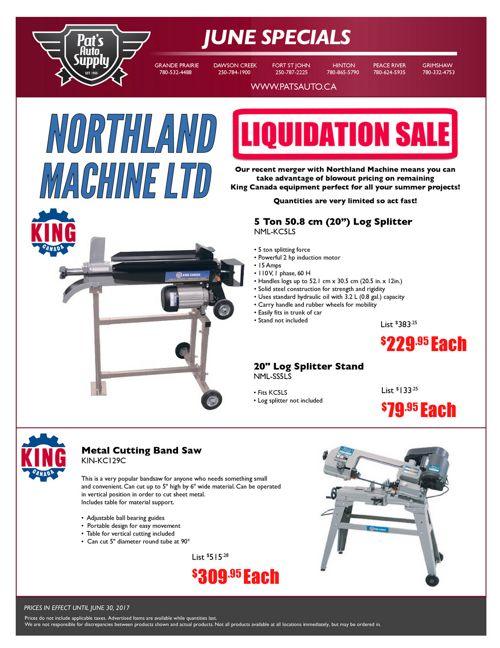 June 2017 Tools & Equipment Flyer