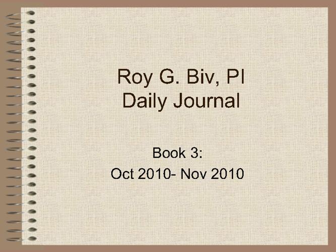 Inspector Roy G.BIV