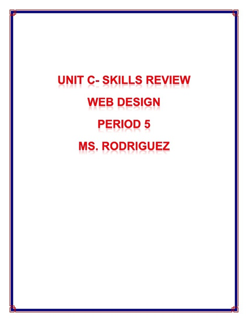 Unit C Skill Review