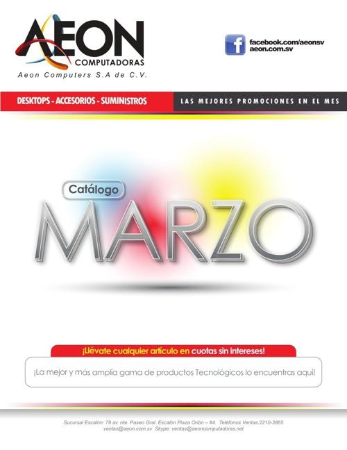 Catalogo Marzo 2014 - AEON Computers, sa de cv