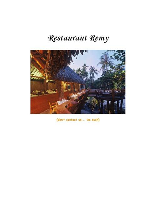 Remy's Secret Recipe Book