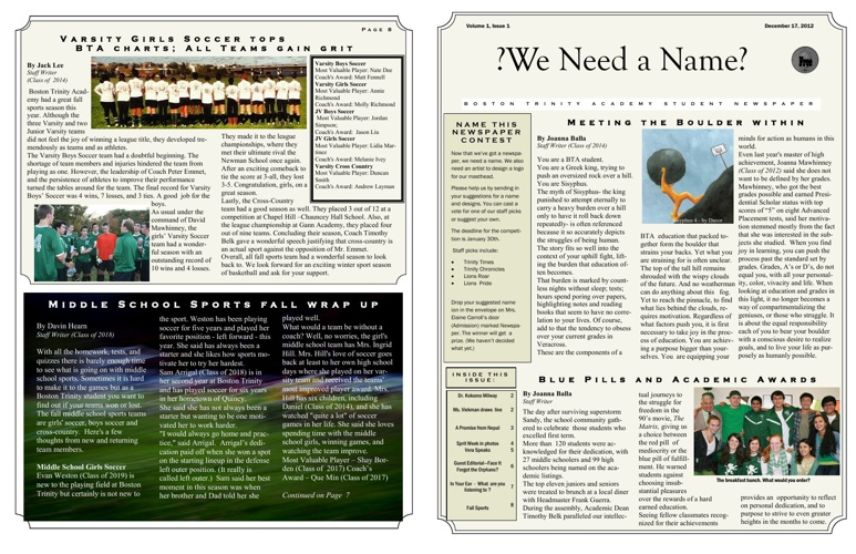 Student Newspaper Issue 1