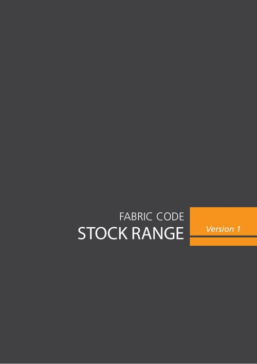Stock Range - Fabric Code
