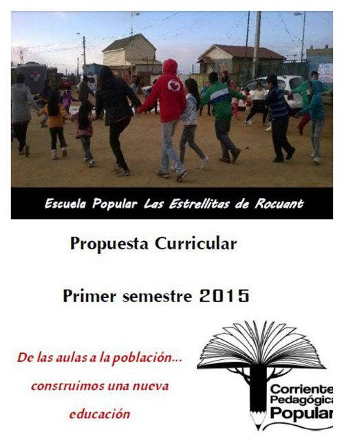 Propuesta Curricular Primer semestre 2015