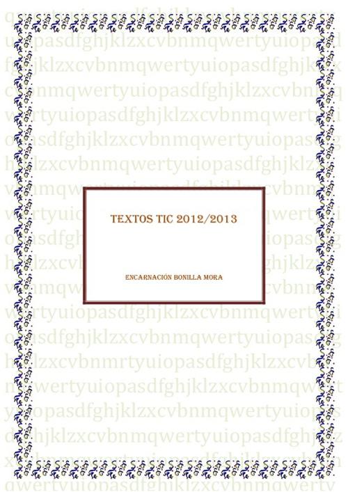TEXTOS TIC 2011-2012
