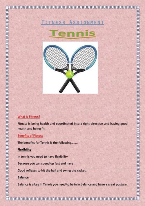 Fitness Assignment Tennis from Sara Manderi OLS6