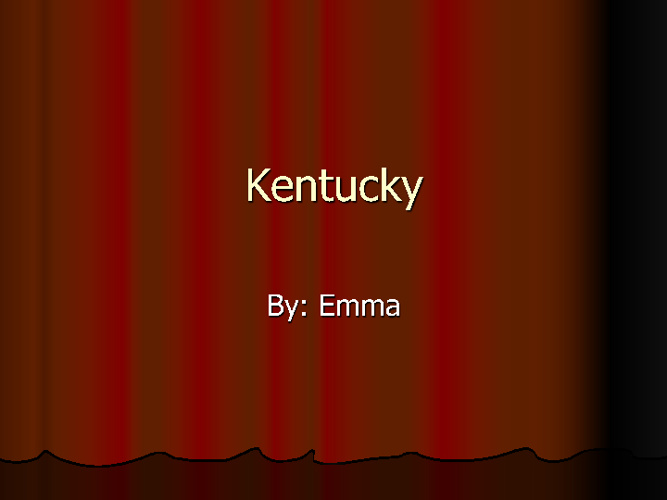Emma Kentuck