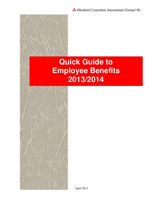 MCIE - Quick Guide to Employee benefits 2012/13