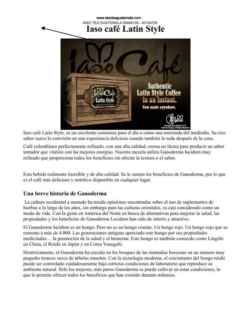 IASO TEA GUATEMALA PRODUCTOS