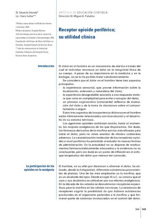 RECEPTORES DE OPIODES