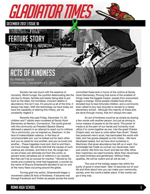 December 2012 | Issue 1B