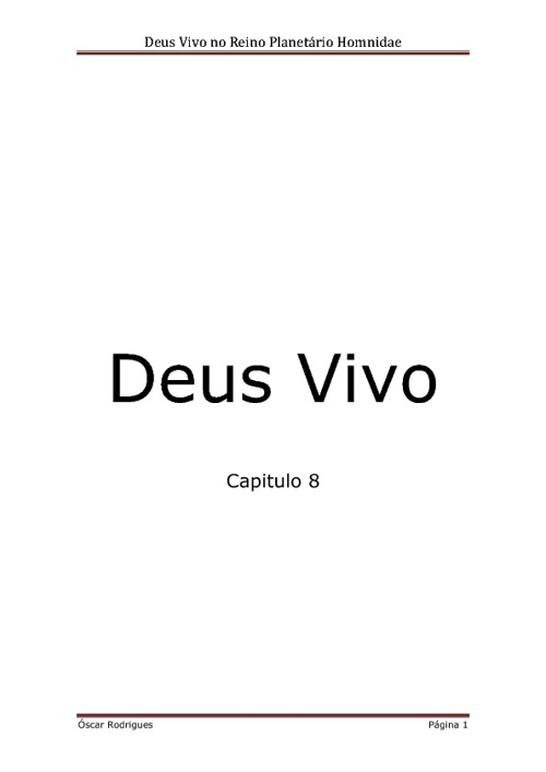 DEUS VIVO - Capitulo 8