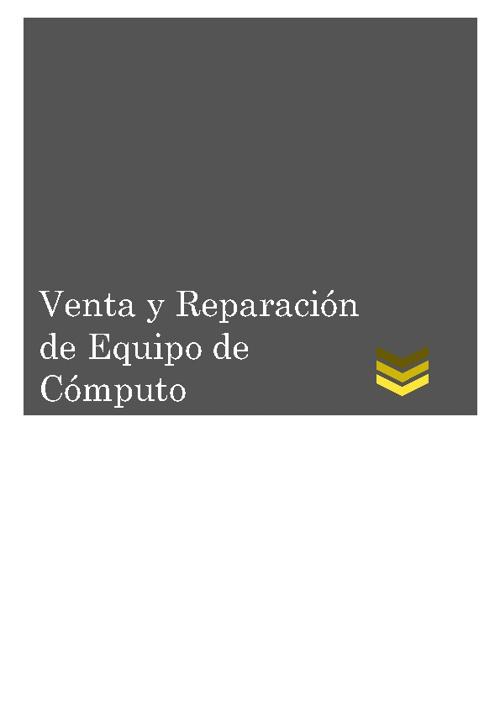 Servicio de Mantenimiento y Reparación a Equipo de Cómputo