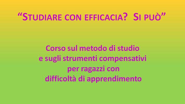 Studiare con efficacia? Si può. (1)