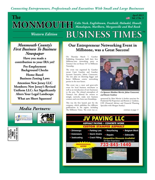 Monmouth Business Times April 2013