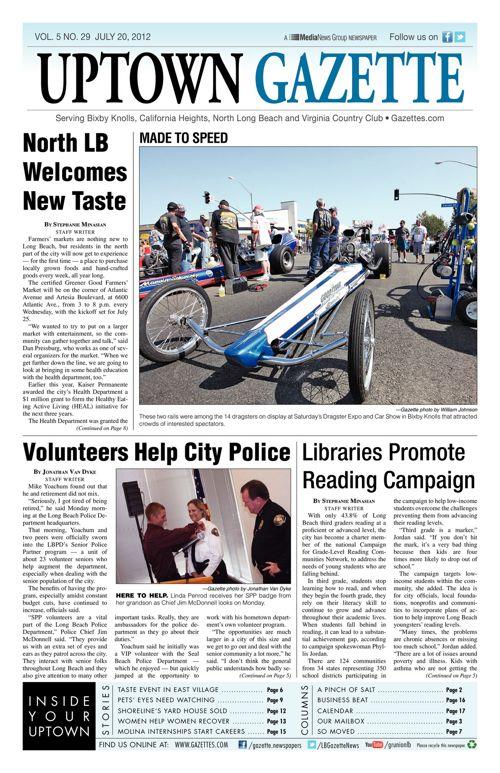 Uptown Gazette  |  July 20, 2012