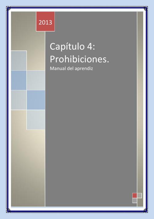 capitulo 4 prohibiciones