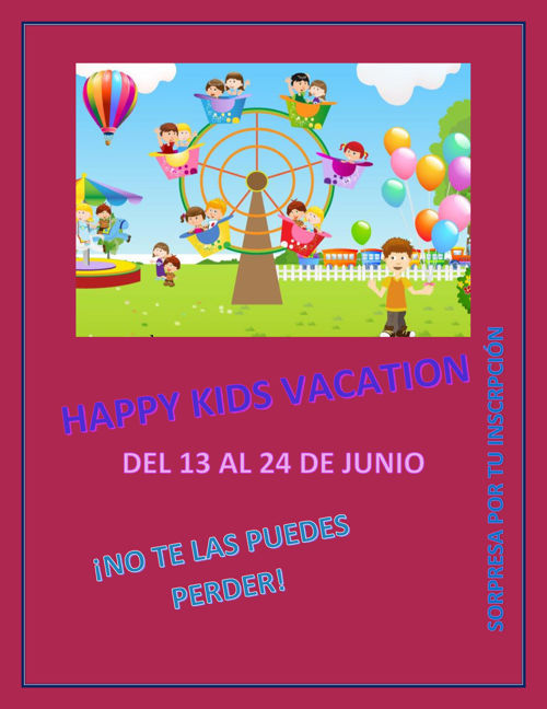 HAPPY KIDS VACATION PRUEBA # 1