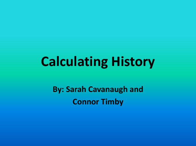 Calculating History: Sarah and Connor