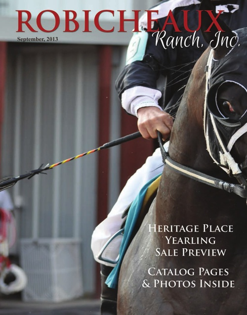 Robicheaux Ranch Heritage Place Yearling Sale Preview